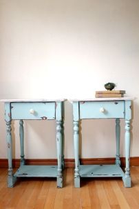 Ocean Breeze blue side tables
