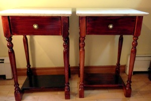 Side tables before