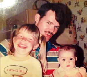 Myself, my dad and my sister