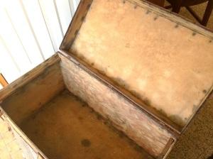 Inside of trunk, stripped